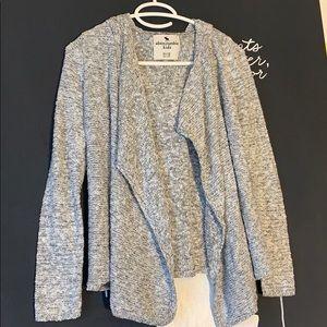 Girls Abercrombie kids gray cardigan size 11/12